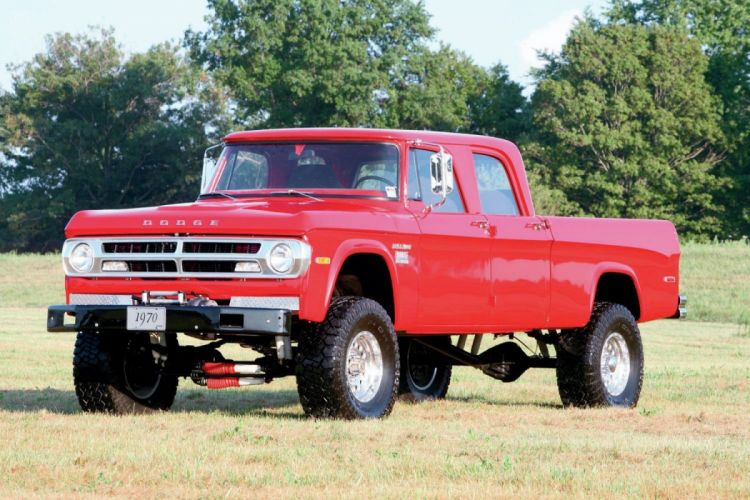 1970 Dodge Crew Cab Cummins Power Wagon 4x4 pickup tuning custom classic wallpaper