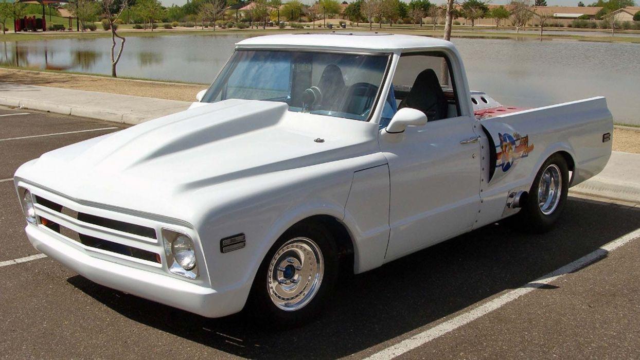 1968 Chevrolet Pickup hot rod rods custom classic military wallpaper