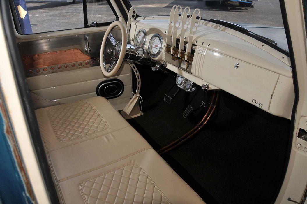 1954 Chevrolet 3100 pickup lowrider custom hot rod rods wallpaper