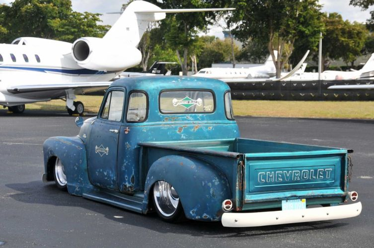 1954 Chevrolet 3100 pickup lowrider custom hot rod rods wallpaper
