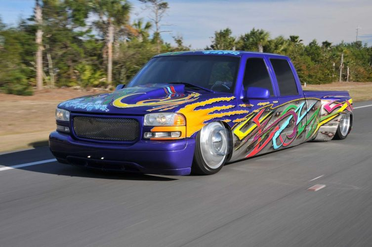 1999 Chevrolet 3500 Dualie lowrider custom pickup hot rod rods tuning wallpaper