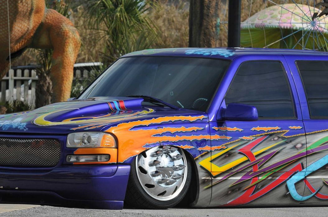 1999 Chevrolet 3500 Dualie lowrider custom pickup hot rod rods tuning wallpaper