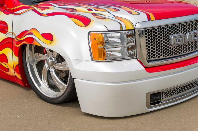 2008 GMC Sierra Denali pickup lowrider hot rod rods custom tuning wallpaper