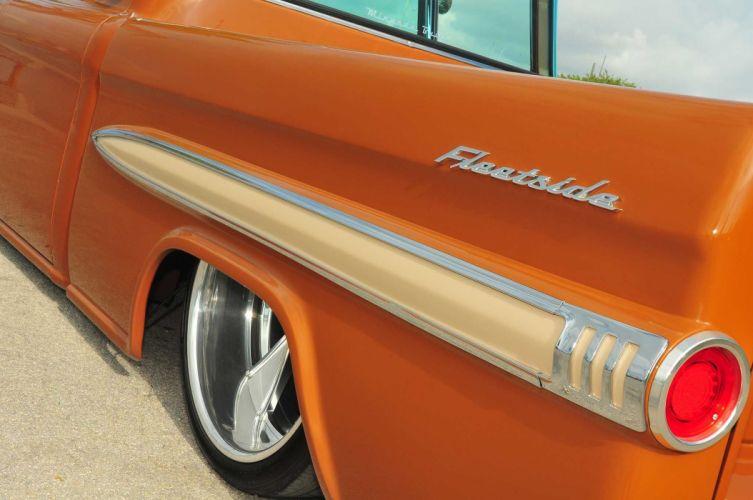 1959 Chevrolet Apache pickup custom hot rod rods retro wallpaper