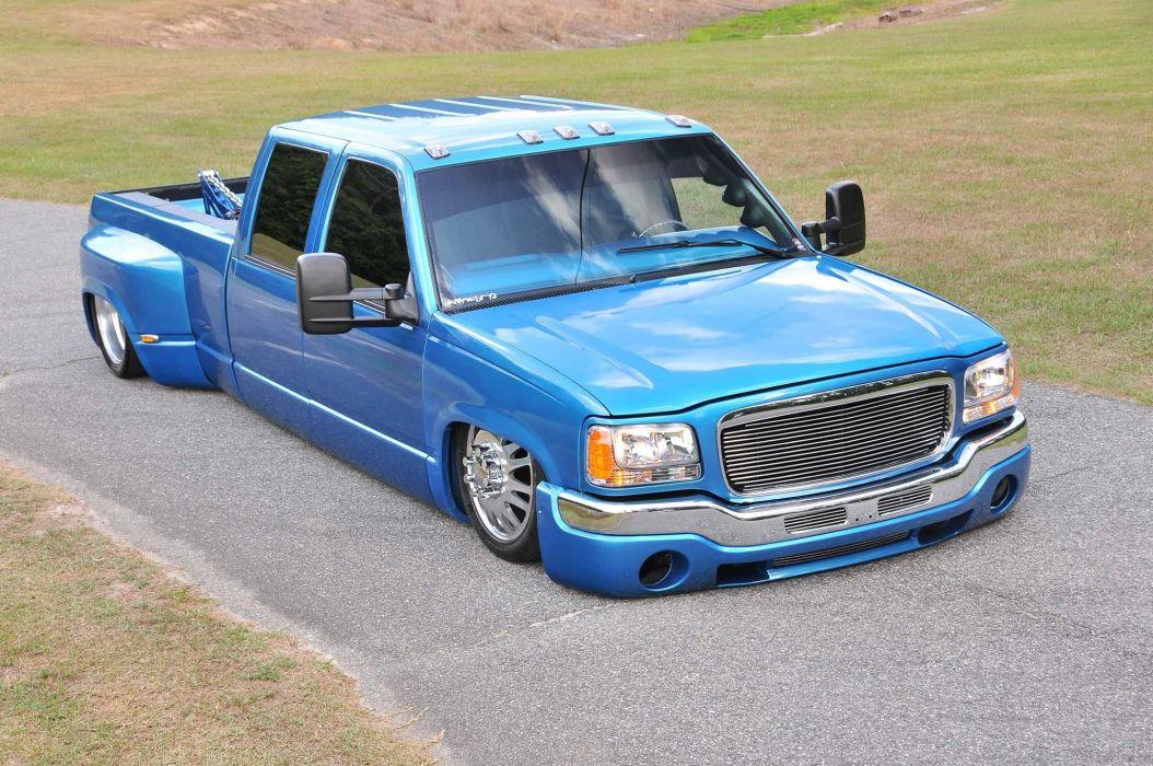 2000 Chevrolet 3500 Dualie pickup custom lowrider hot rod rods tuning wallpaper