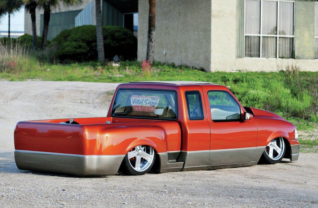 1995 Ford Ranger pickup lowrider custom hot rod rods tuning wallpaper