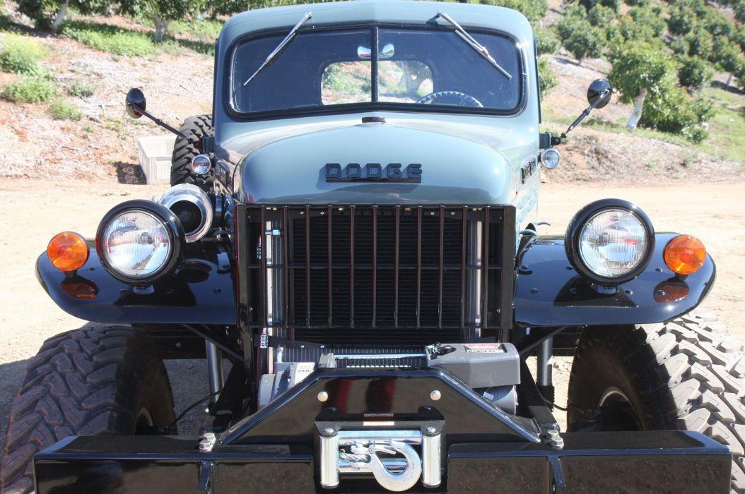 1949 Dodge Power Wagon 4x4 pickup custom tuning retro mopar wallpaper