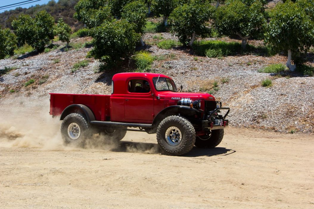 1949 Dodge Power Wagon 4x4 pickup custom tuning retro mopar wallpaper