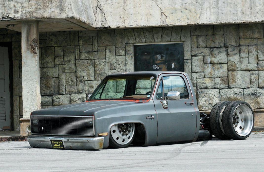 1987 Chevrolet C10 pickup custom tuning hot rod rods wallpaper