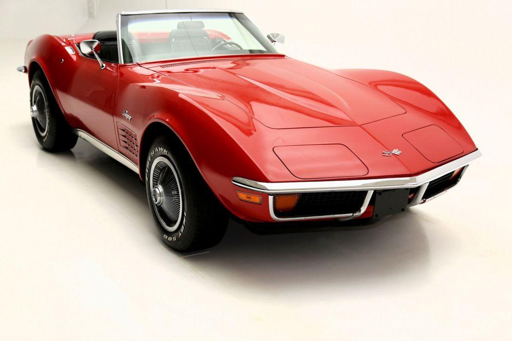 1971 CHEVROLET CORVETTE STINGRAY ROADSTER 350ci supercar muscle classic wallpaper