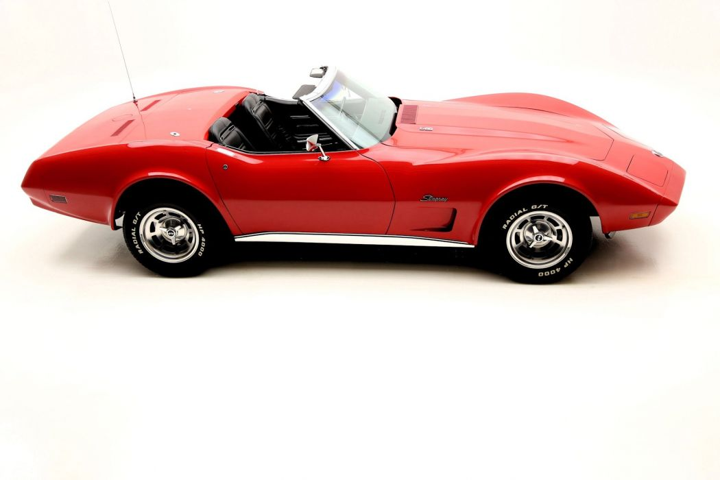 1974 CHEVROLET CORVETTE CONVERTIBLE L82 350ci supercar muscle classic wallpaper