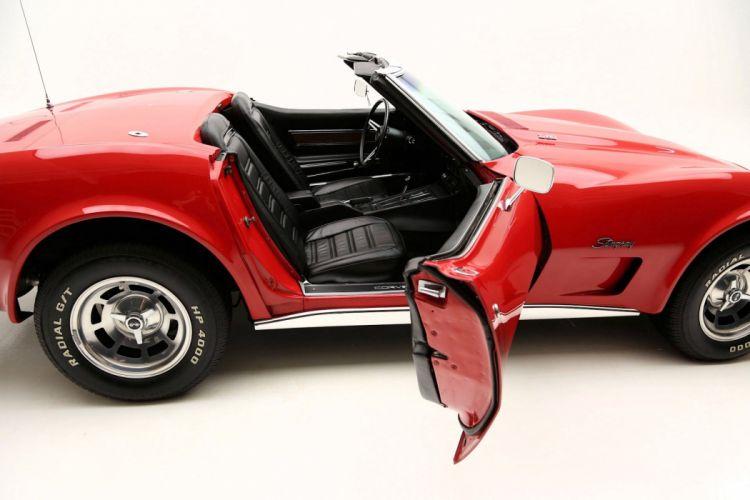 1974 CHEVROLET CORVETTE CONVERTIBLE L82 350ci supercar muscle classic wallpaper