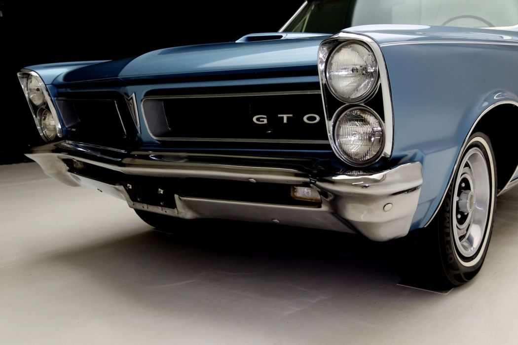 1965 PONTIAC LEMANS CONVERTIBLE GTO 326ci muscle classic wallpaper