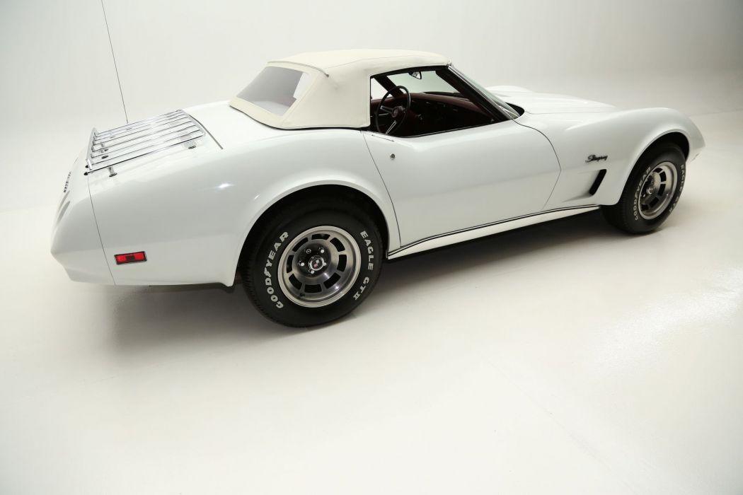 1974 CHEVROLET CORVETTE STINGRAY CONVERTIBLE 350ci supercar muscle classic wallpaper