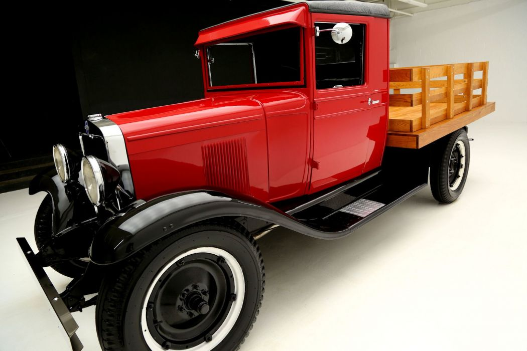 1930 CHEVROLET UNIVERSAL STAKEBED pickup retro vintage wallpaper