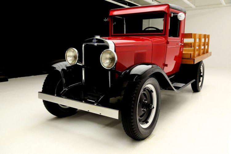 1930 CHEVROLET UNIVERSAL STAKEBED pickup retro vintage wallpaper