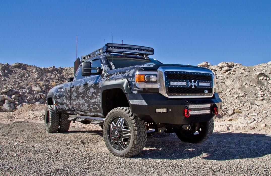 2015 GMC Sierra 3500 4x4 custom tuning pickup silverado wallpaper