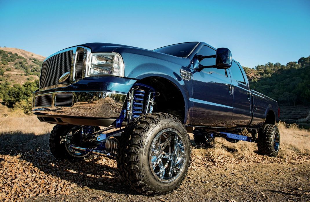 2006 Ford F-250 Super Duty Lariat crew cab 4x4 pickup custom tuning f250 wallpaper