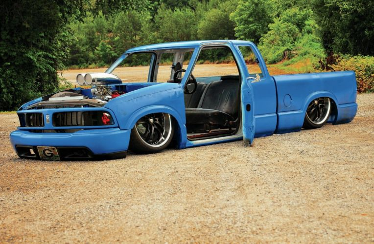 1997 GMC Sonoma lowrider pickup hot rod rods custom tuning wallpaper