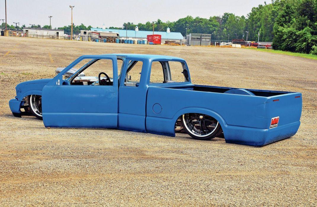 1997 GMC Sonoma lowrider pickup hot rod rods custom tuning wallpaper
