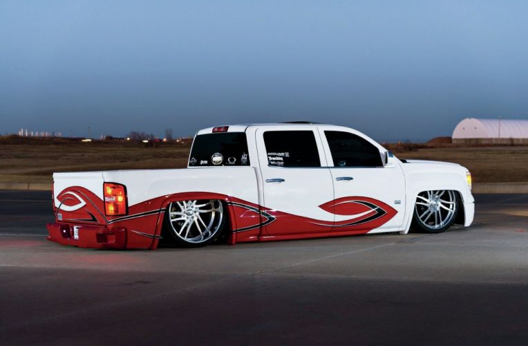 2014 GMC Sierra SLT pickup custom tuning hot rod rods lowrider wallpaper