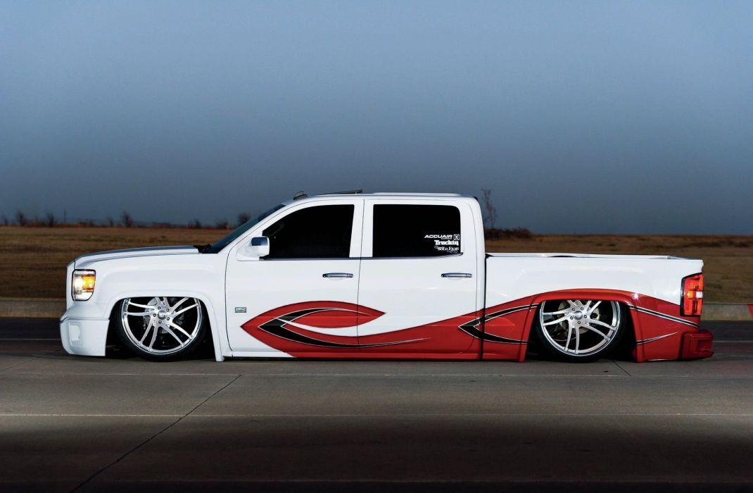 2014 GMC Sierra SLT pickup custom tuning hot rod rods lowrider wallpaper