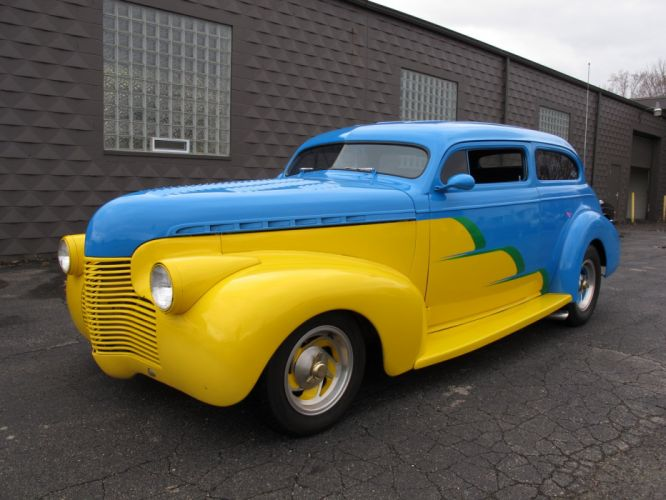 1940 Chevrolet Sedan 350CI custom hot rod rods retro wallpaper