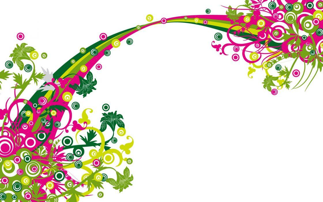 abstracto flores vector wallpaper