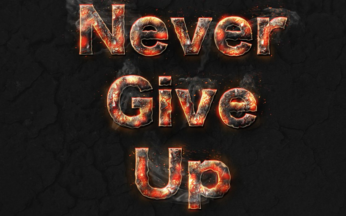 abstracto texto never give up wallpaper