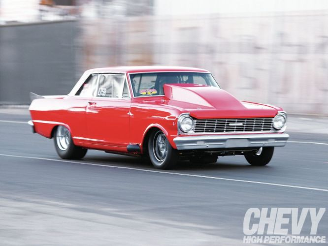 1965 Chevrolet Nova drag wallpaper