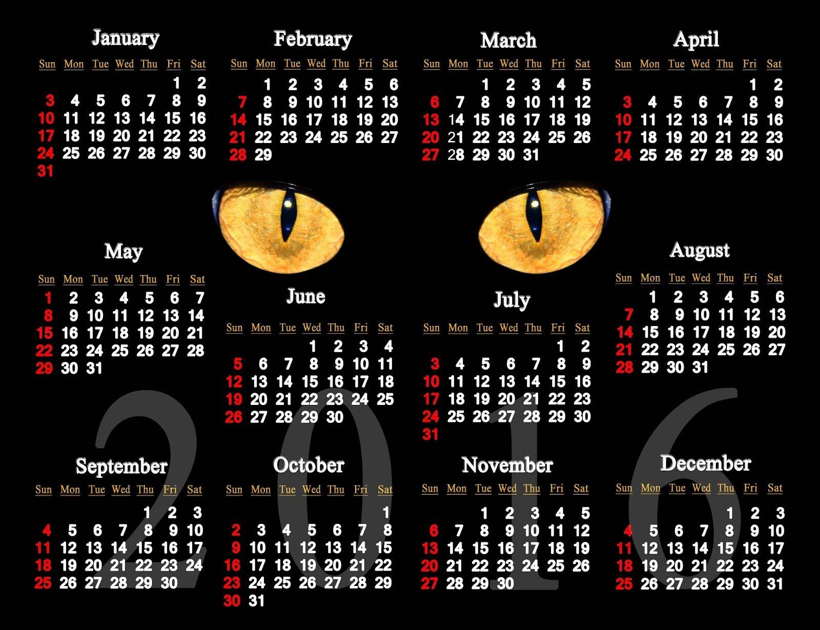 обои рабочего стола календарь октябрь 2016 № 1355656  скачать