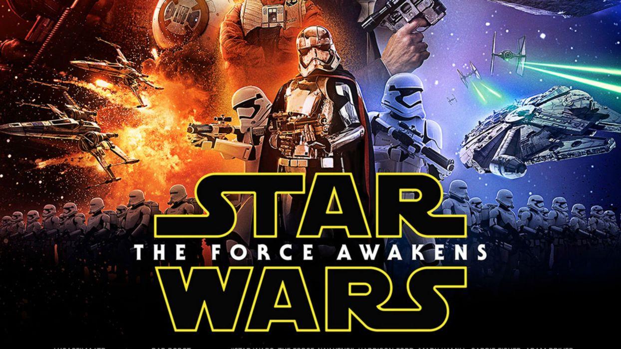 STAR WARS FORCE AWAKENS sci-fi disney action futuristic adventure fighting 1star-wars-force-awakens poster wallpaper