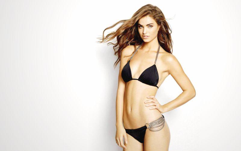 model girl beautiful brunette pretty cute beauty sexy pose face eyes smile hair lips figure wallpaper