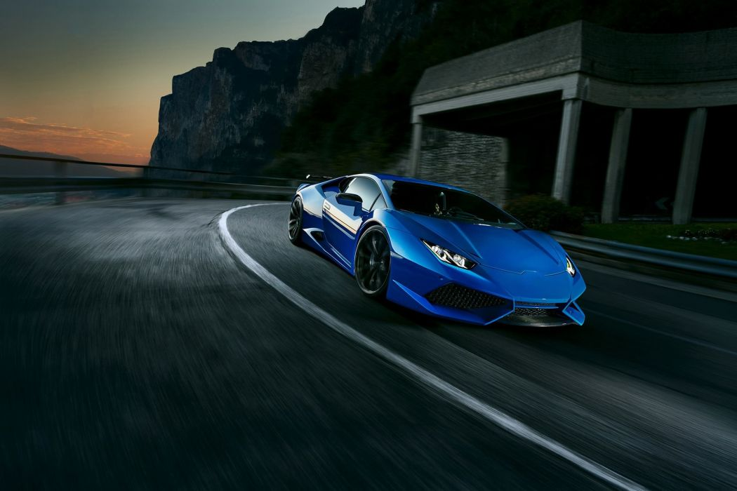 Novitec Torado Lamborghini Huracan N-Largo cars supercars modified blue wallpaper
