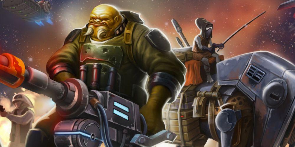STAR WARS COMMANDER sci-fi 1swcom action fighting futuristic shooter wallpaper