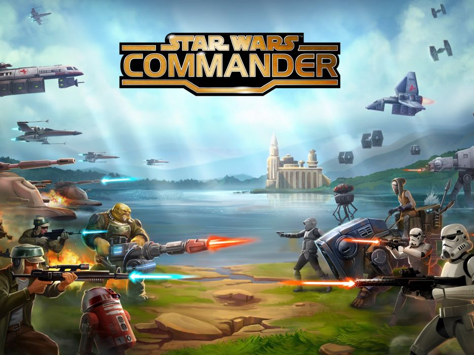 STAR WARS COMMANDER sci-fi 1swcom action fighting futuristic shooter poster wallpaper