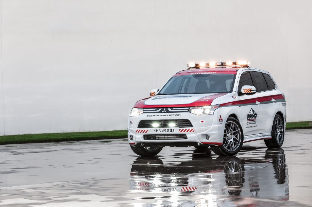 2013 Mitsubishi Outlander G-T Pikes Peak Safety rally race racing emergency stationwagon wallpaper