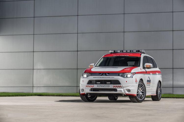 2013 Mitsubishi Outlander G-T Pikes Peak Safety rally race racing emergency stationwagon wallpaper