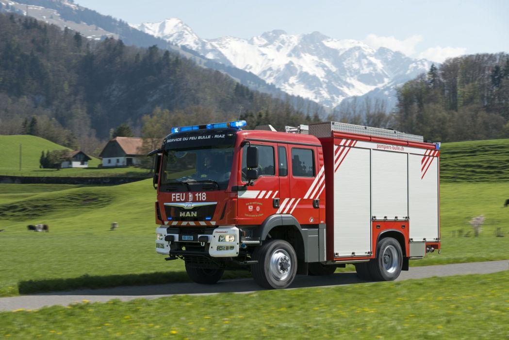 2014 MAN TGM 13-290 4x4 B-L Feumotech CAFS firetruck emergency semi tractor wallpaper
