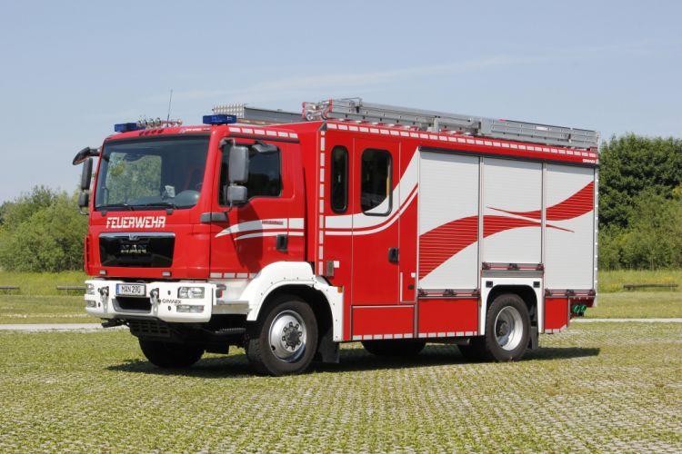 2015 MAN TGM 13-290 4x4 B-L Gimaex firetruck emergency semi tractor wallpaper