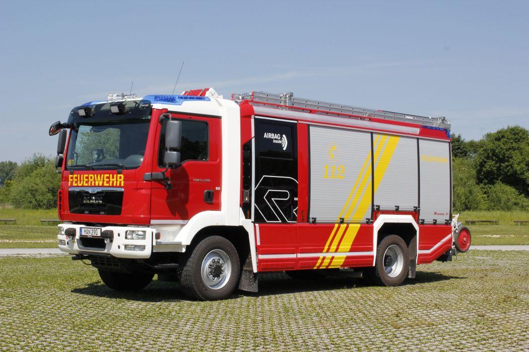 2015 MAN TGM 15-290 firetruck emergency semi tractor wallpaper