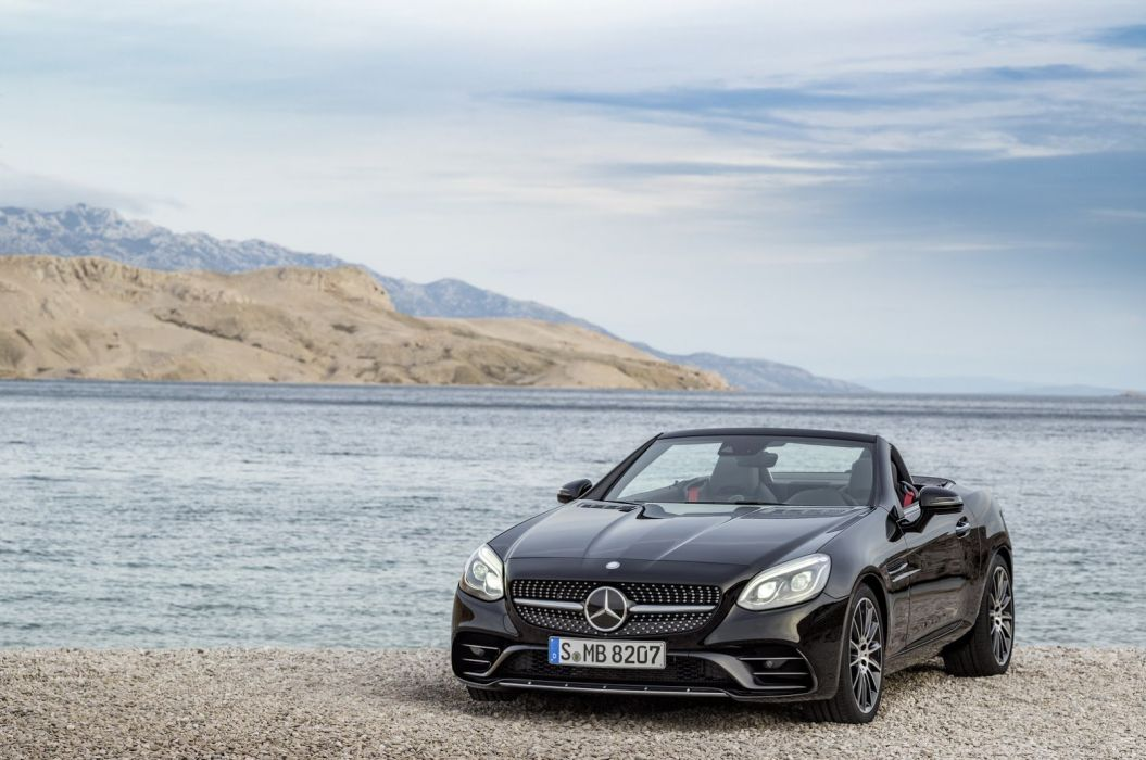 2016 Mercedes SLC AMG roadster cars wallpaper