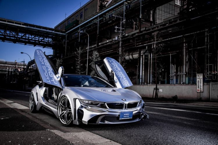 BMW i8 Bodykit Tuner Energy Motor Sport cars modified electric wallpaper