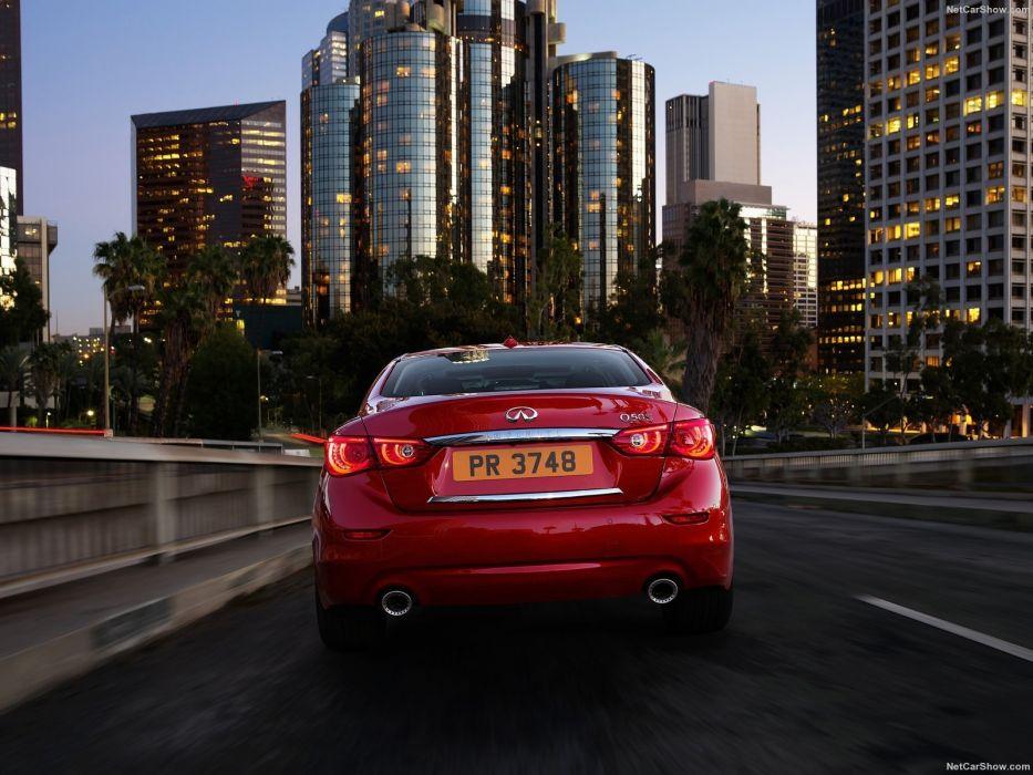 Infiniti Q50 cars sedan 2016 red wallpaper