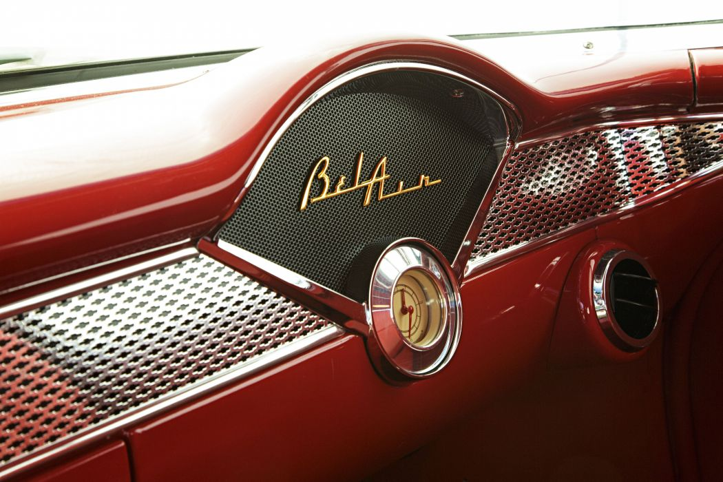 1955 Chevrolet Bel Air custom hot rod rods retro belair wallpaper
