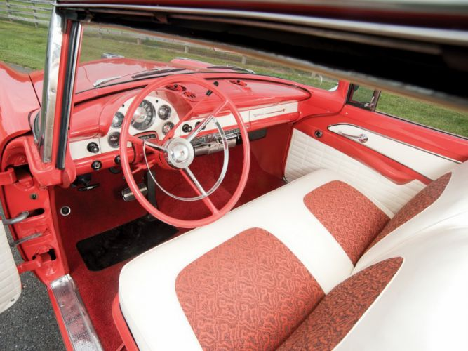 1956 Ford Fairlane Crown Victoria Skyliner luxury retro wallpaper