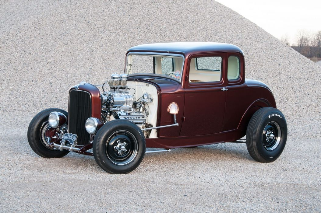 1932 Ford Deuce Coupe hot rod rods custom retro vintage wallpaper