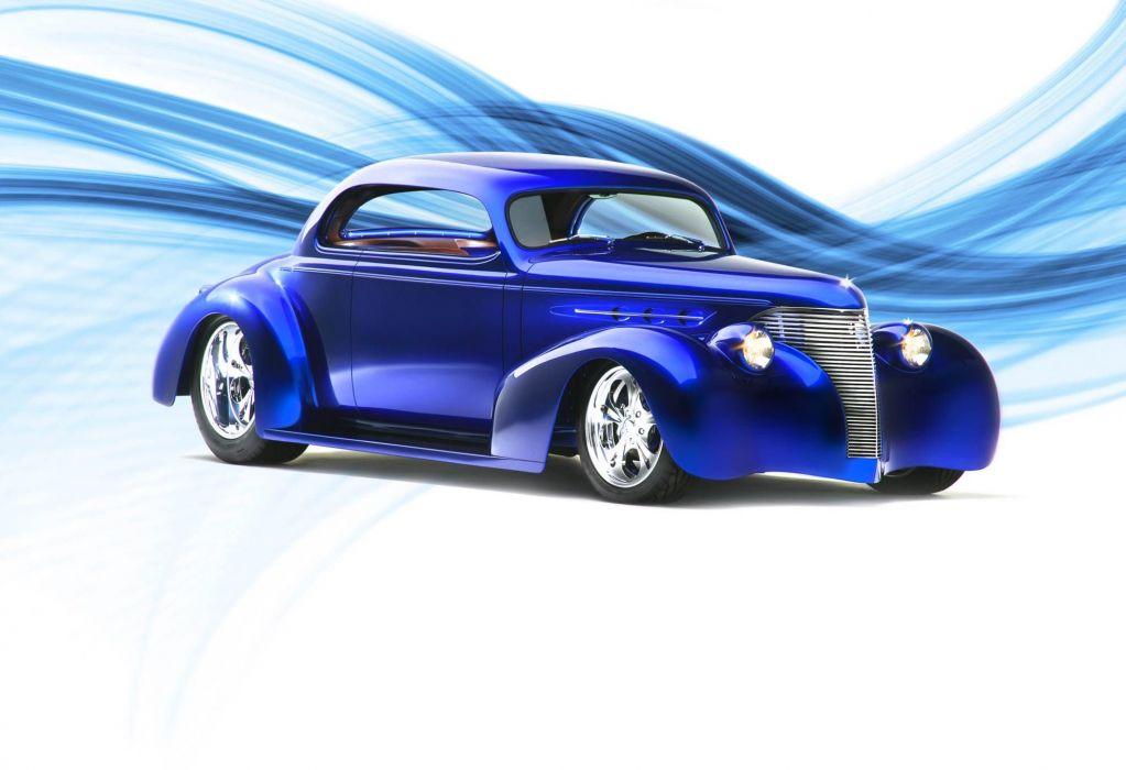 1939 Chevrolet coupe hot rod rods custom retro vintage wallpaper