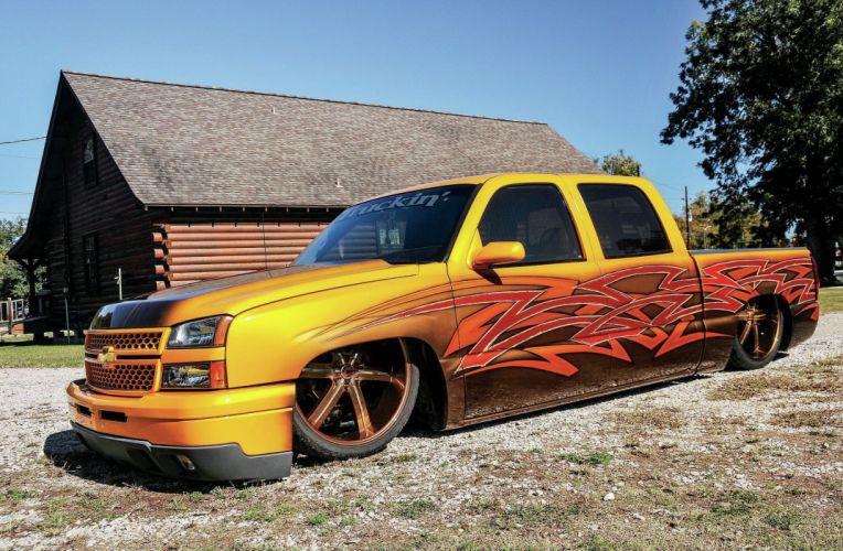 2007 Chevrolet Silverado pickup hot rod rods custom lowrider wallpaper
