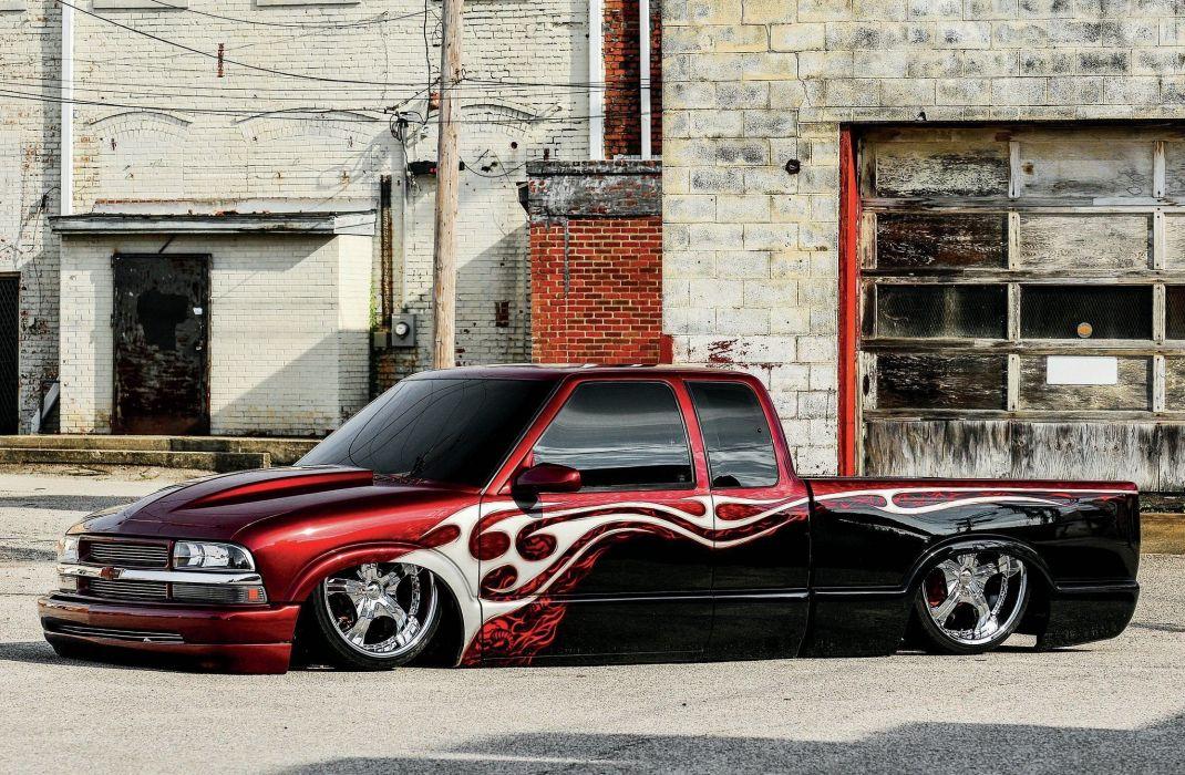 1995 Chevrolet S-10 custom hot rod rods pickup lowrider wallpaper